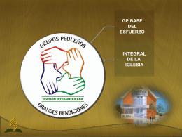 Grupo Pequeño base - Ministerio Personal y Grupos Pequeños