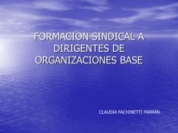 formacion sindical a dirigentes de organizaciones base
