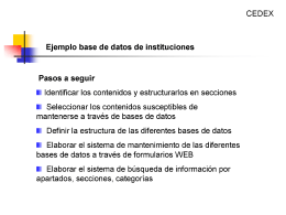 Base datos Winisis