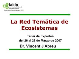 Generalidades / Panorama de IABIN/ETN