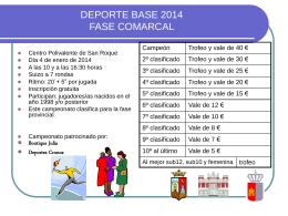 deporte base comarcal2014