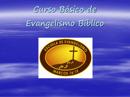 Power Point - Escuela de Evangelismo