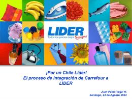 Por qué LIDER adquiere a Carrefour Chile?