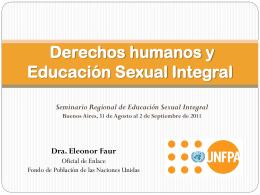 Dra. Eleonor Faur . ESI - Seminario Internacional