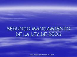 SEGUNDO MANDAMIENTO DE LA LEY DE DIOS