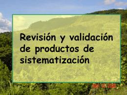 Validación de procesos de intervención