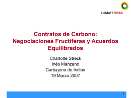 Contratos de Carbono - ValorandoNaturaleza.org