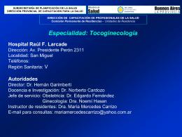 Hospital Raúl F. Larcade - Residencias Profesionales