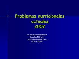 Obesidad Infantil, con datos nacionales y del CUS Dra. Sylvia