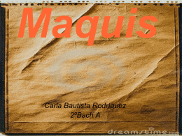 Maquis - sigloxxespanol