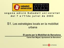 El Pacte per la Mobilitat de Barcelona