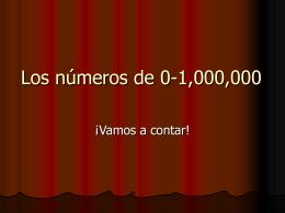 Los números de 0-100