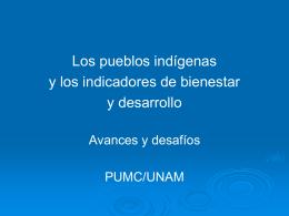 Los pueblos indígenas y los indicadores de bienestar y