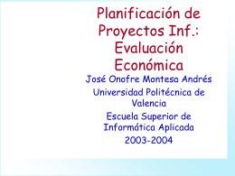 Estudio Económico - Universidad Politécnica de Valencia