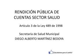 Descargar el informe Rendición Pública de Cuentas Secretaría de