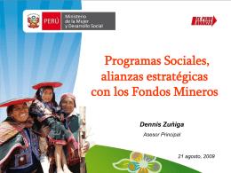 Programas Sociales y Alianzas Estratégicas con los Fondos Mineros