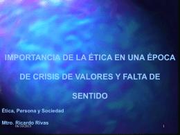 Presentación de PowerPoint - philosophica.us / Ricardo M. Rivas