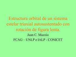 Estructura orbital de un sistema estelar triaxial autosustentado con