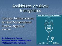 Antibióticos y cultivos transgénicos