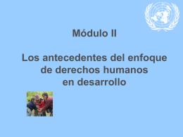 Desarrollo humano - Alto Comisionado de las Naciones Unidas