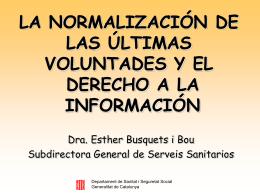 ley catalana sobre los derechos de informacion concerniente a la