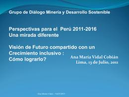 Descargar presentación - Grupo de Diálogo, Minería y Desarrollo