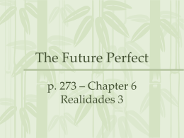 The Future Perfect