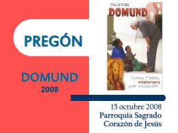 Pregón Domund
