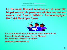 La Gimnasia Musical Aeróbica en el desarrollo