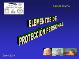 ELEMENTOS DE PROTECCIÓN PERSONAL LOS - AURA-O