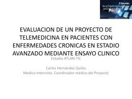 evaluacion de un proyecto de telemedicina en pacientes con