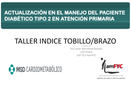 TALLER INDICE TOBILLO/BRAZO