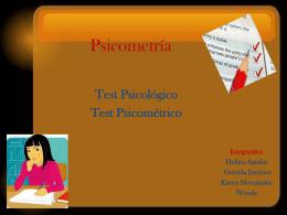 Test psicométricos test psicológicos