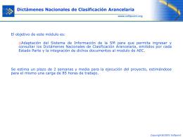 Dictámenes Nacionales de Clasificación Arancelaria