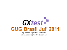 Demo Básica GXtest