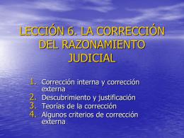 LECCIÓN 1. LÓGICA Y ARGUMENTACIÓN JURÍDICA