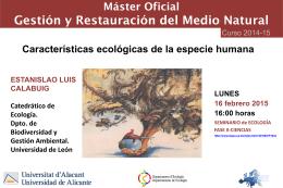 """Seminario """"Características ecológicas de la especie humana"""""""