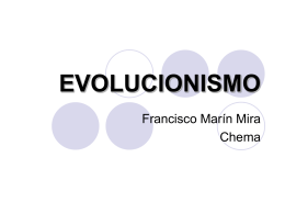Presentación Evolucionismo - Departamento de Sistemas Informáticos