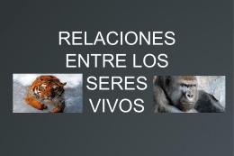 RELACIONES ENTRE LOS SERES VIVOS INTRODUCCIÓN
