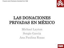 las donaciones privadas en méxico - Proyecto sobre Filantropía y
