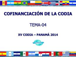 Cofinanciación de la CODIA