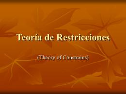Teoría de Restricciones 1