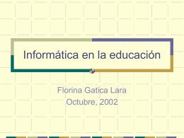 Introducción a la informática Educativa