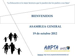 Presentación Junta General - AMPTA Estudiantes las Tablas