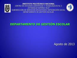 Gestión escolar - CECyT 3 - Instituto Politécnico Nacional