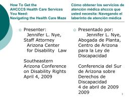 Behavioral Health Services - Arizona Center for Disability Law
