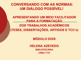 METODOLOGIA CIENTÍFICA / NORMAS DA ABNT