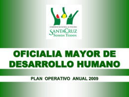 OMDH - Gobierno Municipal de Santa Cruz de la Sierra