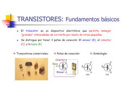 TRANSISTORES: Fundamentos básicos