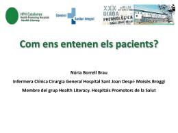 Com ens entenen els pacients